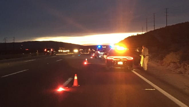 A man was killed after being struck by a vehicle on Interstate 10 Tuesday morning.