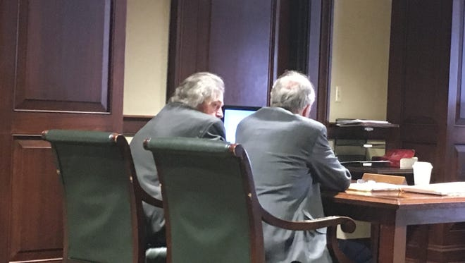 Brendan MacDonald, at left, was found guilty Wednesday of six counts of attempted murder after prosecutors say he fired multiple shots at police officers who went to his Green Township home the morning of May 28, 2017.