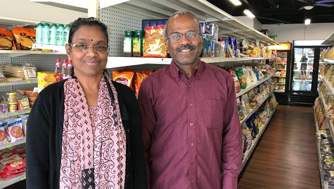Eswari Muthu and her husband Muthu Kasi opened the Indian grocery store Greens & Spices last year.