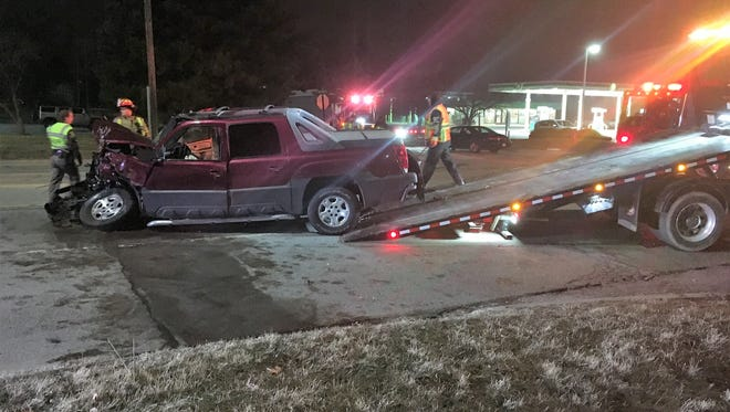 A crash shut down a stretch of 24th street on Wednesday night around the intersection of 24th and Beard streets.