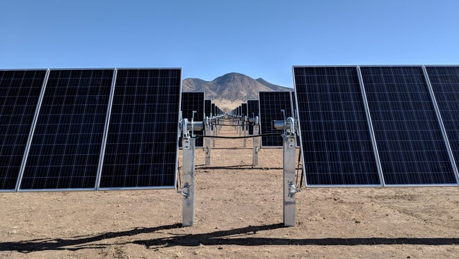 The panels are up and running at the new solar facility in Carrizozo.