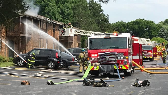 Firefighters were called Thursday afternoon to a fire at an apartment building at 150 S. Fisk St.