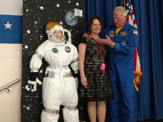 Veteran National Aeronautics and Space Administration (NASA) astronaut, Captain Jon McBride's visit to James McDivitt Elementary School on Friday was quite special for students and staff, among others in attendance.