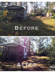 Members of the Navarre community completed a landscaping