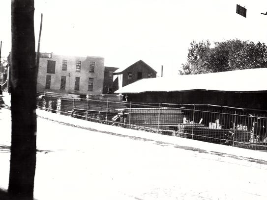 The Roberson lumber yard in its original location along