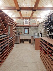 A Somerset County wine cellar built by Washington Valley Cellars, based in the Martinsville section of Bridgewater.