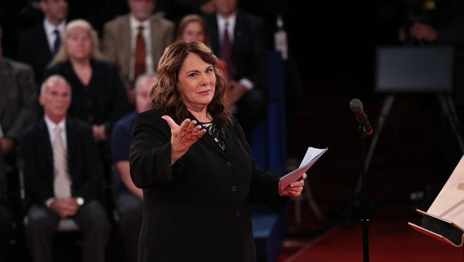 Candy Crowley, pictured moderating a 2012 presidential debate, is leaving CNN after a 27-year run.
