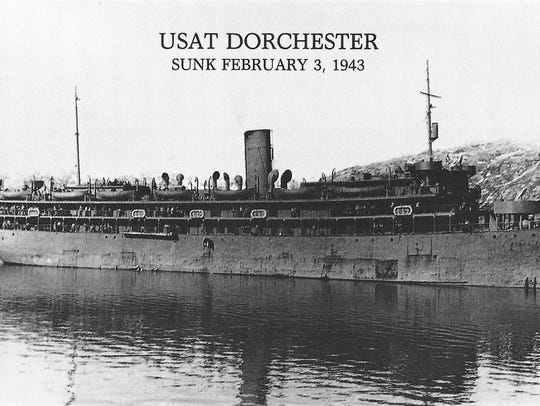 The Army troop ship Dorchester.