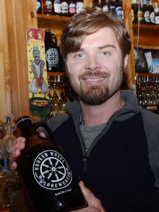 ANI Broken Wheel Brewery John Knoll (left) is the owner of Broken Wheel Brewery in Marksville. The brewery operates out of the Fresh Catch Bistreaux which is also owned by Knoll. Thursday, Feb. 19, 2015.-Melinda Martinez/mmartinez@thetowntalk.com The Town