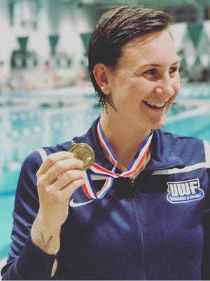 UWF senior Theresa Michalak won six events and was named the top overall swimmer at the conference championship meet that ended Saturday night at Delta State.