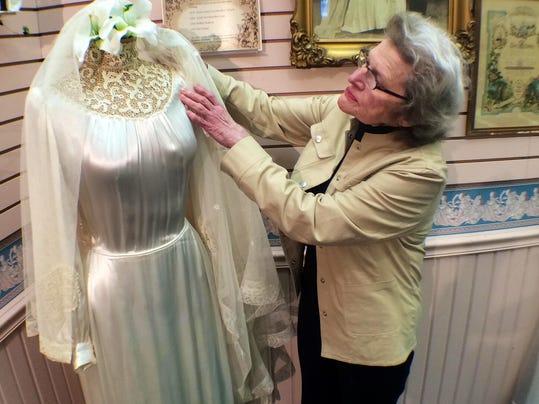 Local bridal shop displays 200 year old wedding dress for Wedding dresses wausau wi