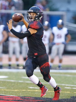 Lafayette Jeff hosts Harrison Friday, September 9, 2016, at Scheumann Stadium. Harrison was up 12-0 when the game was called due to lightning with 8:01 remaining in the third quarter. The game was postponed and will resume at 11 a.m Saturday, September 10 at Scheumann Stadium.