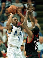 "Four-time NBA all-star Anfernee ""Penny"" Hardaway, shown"