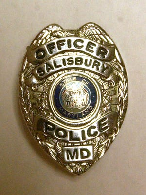 Salisbury Police Department officer badge