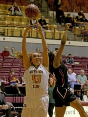 Liz Cathcart had a team-high eight rebounds and 11 points, one of four MSU Texas players in double figures in a hard-fought 76-72 win at Texas Woman's University Thursday.