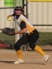 Southeast Polk sophomore third baseman Gretta Hartz throws to first. Ottumwa beat Southeast Polk 1-0 in a Class 4A regional game July 7 in Pleasant Hill.