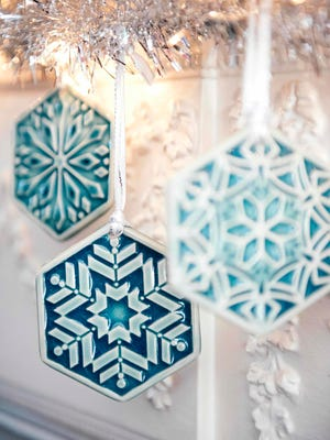 First place winner gets these, among other gifts: the 2016 snowflake collection from Pewabic. $25 each or a a set of three for $75. Available at Pewabic. Info or to shop online: pewabic.org
