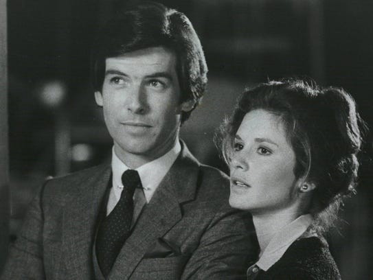"Pierce Brosnan and Stephanie Zimbalist in ""Remington"