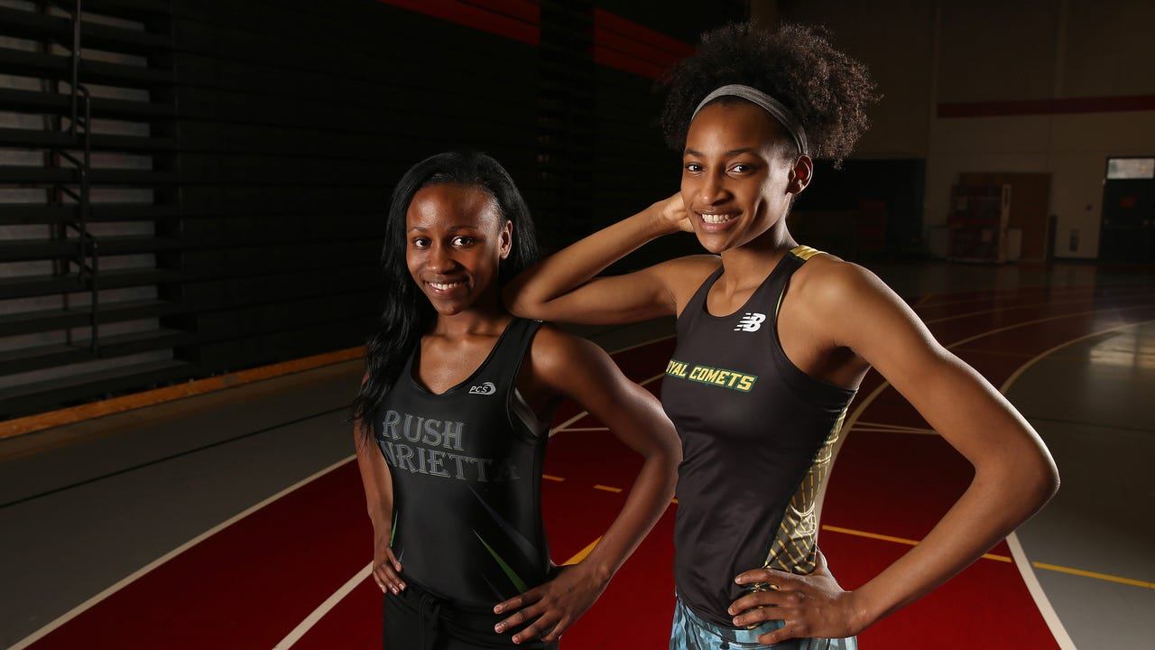 Rush-Henrietta teammates Sammy Watson and Lanae-Tava Thomas are All-Greater Rochester Indoor Track and Field Co-Athletes of the Year. Video by Jamie Germano.