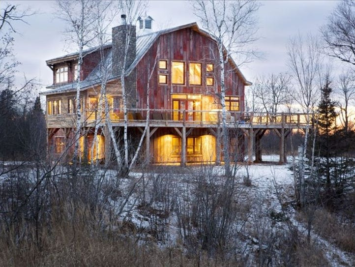 This six-bedroom rental in Maple, Wis., sleeps 20 and