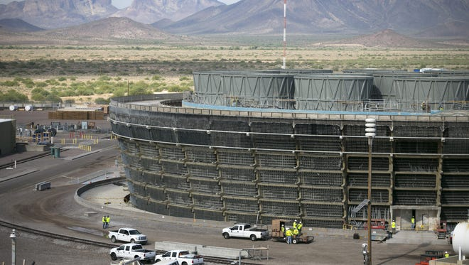 A cooling tower at the Palo Verde Nuclear Generating Station.