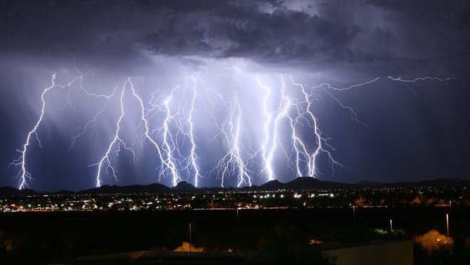 Monsoon storm over Phoenix in 2015.