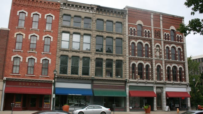 The 300 block of East Water Street is among those that would fall under a New York Main Street Program grant being pursued by the City of Elmira.