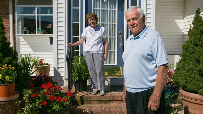 """Longtime New Castle resident, Vincent """"Jimmy"""" Gambacorta stands with his wife, Rose, at their home in New Castle. Gambacorta was appointed the new mayor of New Castle by the City Council Tuesday night."""
