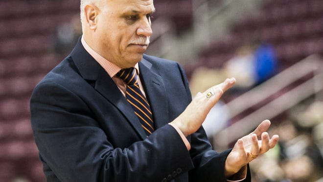 York Catholic girls' basketball head coach Kevin Bankos is hoping his team can rebound after starting the season at 3-5. YORK DISPATCH FILE PHOTO