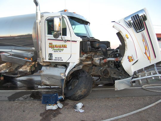 The driver of a milk truck involved in a traffic crash
