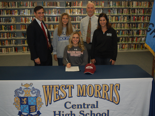 West Morris senior Maddie Selvaggi signed a National Letter of Intent to continue her basketball and academic career at Fairleigh Dickinson.