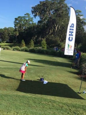 Vivian Luu, who just missed a trip to Augusta last year, will start her quest to the finals this season at Duran's Youth Drive, Chip and Putt qualifier on May 20. She is shown here chipping during the regional competition at TPC Sawgrass.