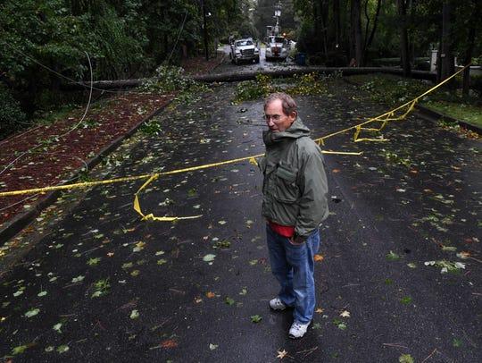 Stewart Long, a Hurricane Irma evacuee from Saint Simons