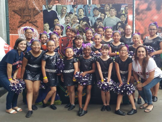 The Metro Elementary Dance Team performed at the Houston