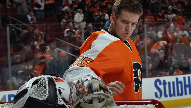 Goalie Steve Mason has started each of the last four games for the Flyers.