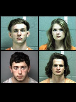Tyler Hostetler (top left); Mackenzie Carter (top right); Hunter McMillon (bottom left); and Beau Robacker (bottom right)