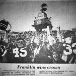 2017 Franklin football team hopes to duplicate 1975 state title run