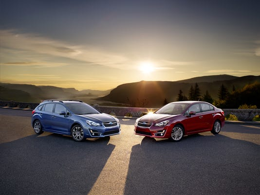 Four door and five door versions of the Subaru Impreza
