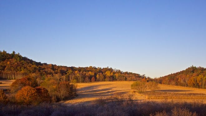 Overlooking some of the fields where Steve Meurett hunted on opening day of the pheasant season on Oct. 17