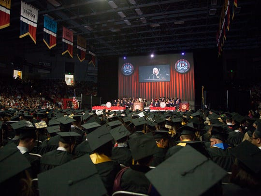 Students and faculty at Dixie State University commemorate