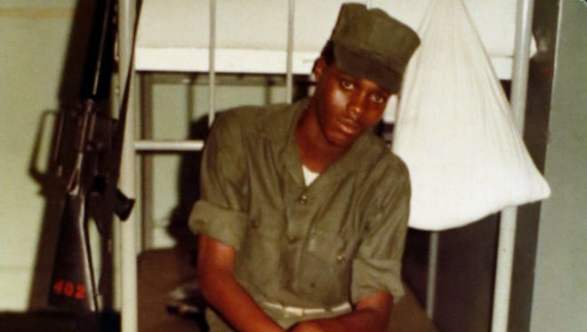 An undated photo provided by family shows Jerome Anthony Murdough. The mentally ill, homeless former Marine was arrested for sleeping in the roof landing of a New York City public housing project during one of the coldest recorded winters in city history. He died last month in a Rikers Island jail cell that multiple city officials say was at least 100 degrees when his body was discovered. Murdough, 56, was found dead in his cell in a mental observation unit  in the early hours of Feb. 15, after excessive heat, believed to be caused by an equipment malfunction, redirected it?s flow to his upper-level cell, the officials said.