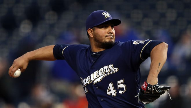 Jhoulys Chacin gives the Brewers a second solid start as he allows two runs on four hits in 5 2/3 innings against the Royals on Wednesday night.