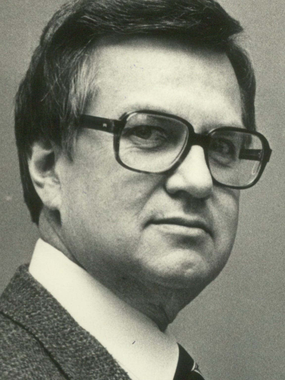 David Johnson is shown when he was chairman of Nicolet High School's mathematics department in 1983.