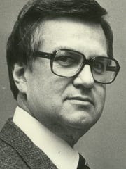 David Johnson is shown when he was chairman of Nicolet High School's mathematics department in 1983.