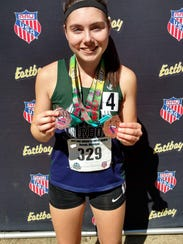 Brighton's Maddie Brown won two All-American medals