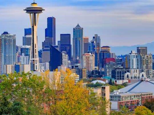 Downtown Seattle skyline.