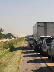 An accident north of Story City, near Randall, has slowed southbound traffic on I-35.