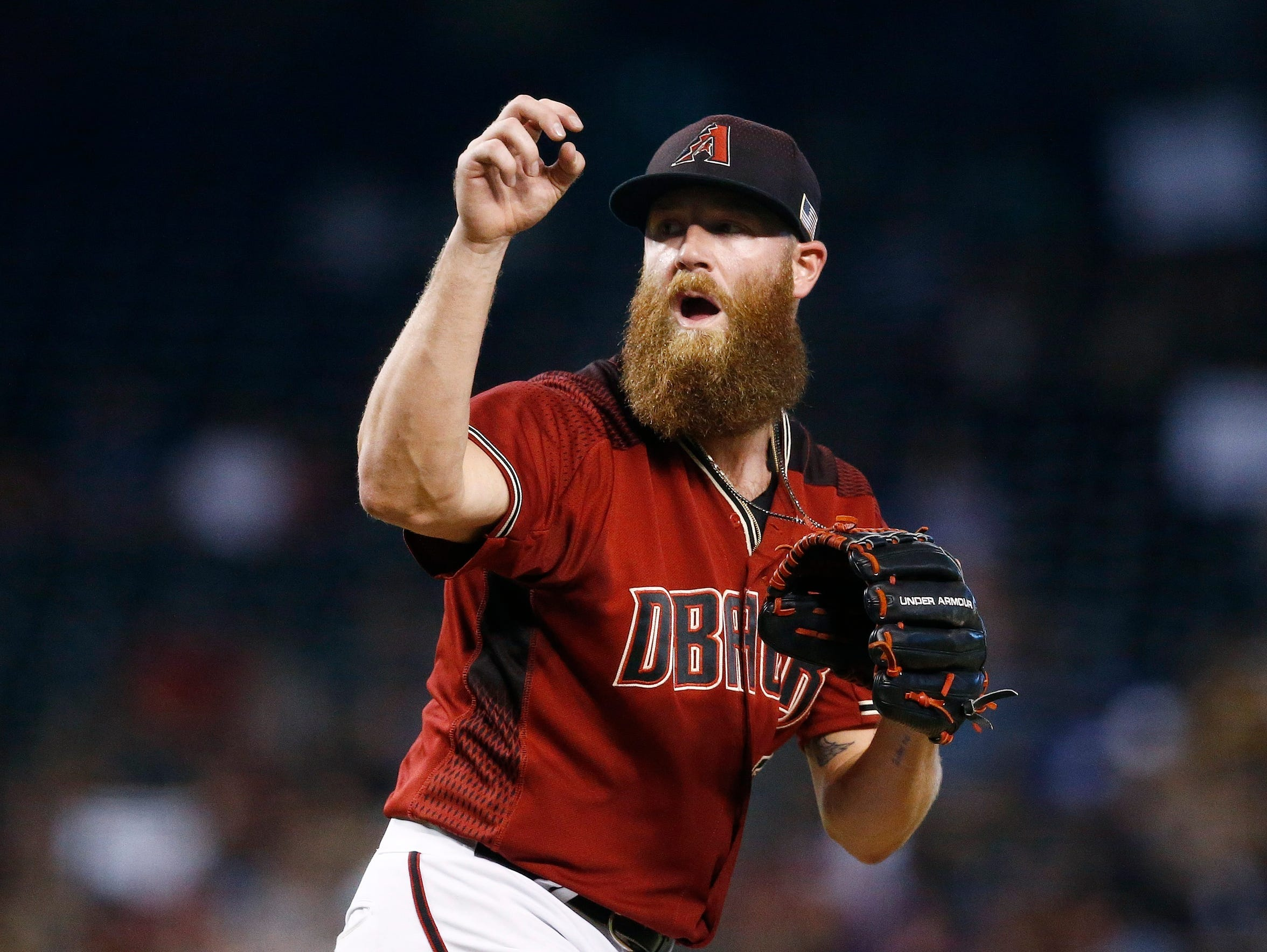 Archie Bradley pitches against the Padres last weekend