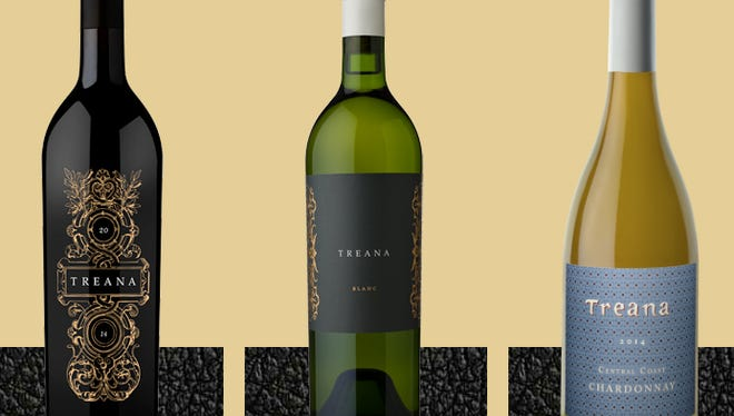 Treana wines and their new labels.