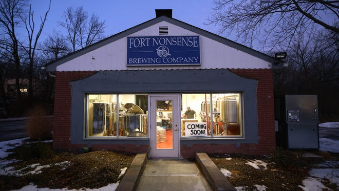 Andrew, l,  and Thomas Aslanian, two of three brothers, owners of Fort Nonsense Brewing, opening the townshipÕs first brewery soon in Denville. January 10, 2018. Denville, NJ.
